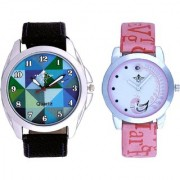 Spanish Sky Colour Art And Pink Peacock Couple Casual SCK Analogue Watch By Google Hub