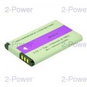 2-Power Videokamera Batteri 3.7v 1100mAh