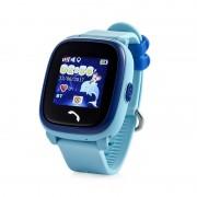 Ceas inteligent pentru copii GW400S Bleu rezistent la apa, cu telefon, GPS, WiFi, touchscreen ,monitorizare spion,