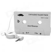Adaptador de cassette de audio para el automovil SL-79115 para telefonos MP3 / MP3 / celulares - blanco (enchufe de 3.5 mm)
