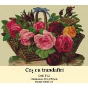 Cos cu trandafiri (kit goblen)