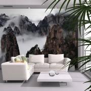 Bimago Fototapeta hory - Sea of clouds in Huangshan Mountain, China 250x193 cm