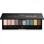 L'Oréal Paris Color Riche La Palette Gold палитра от сенки за очи с огледалце и апликатор 7 гр.
