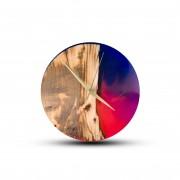 TIMMER wood decor Abstract - Živicové drevené hodiny