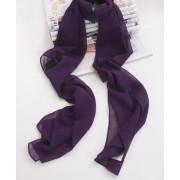 Šifonový šál tmavě fialový