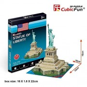CubicFun 3D Puzzle of The Statue of Liberty Cubic Fun S3026h 38 Pieces S Series
