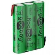 Goobay Batterie Ricaricabili NiMH 3xAAA HR3 800 mAh 3.6V a Saldare
