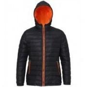 Women's Padded Jacket Black/Orange