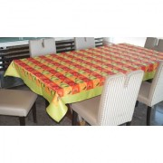 Lushomes Digital Printed Green Themed Table Cloth For 6 Seater