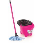 Set de curatenie pentru copii, mop + galeata, roz, Unicorn Dolu