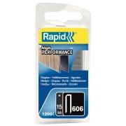 Capse Rapid 606 15 mm galvanizate cu rasina 1.200 blister