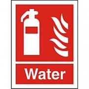 Unbranded Fire Extinguisher Sign Water Plastic 20 x 15 cm