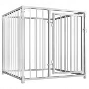 vidaXL Външна клетка за кучета, 100x100x100 см