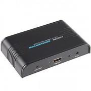 Convertitore Scaler VGA + Audio a HDMI, Nero