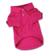"Zack & Zoey Cotton Polo Shirt for Dogs, 16"" Medium, Raspberry Sorbet"