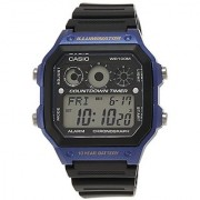 Casio Youth Grey/Blue Dial Mens Watch - AE-1300WH-2AVDF (D107)