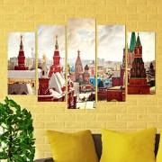 Декоративен панел за стена с Червения площат в Кремъл Vivid Home
