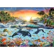 Puzzle Ravensburger - Paradisul Delfinilor, 200 Piese