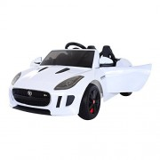 Aosom 12V Jaguar F Type Convertible Kids Electric Ride On Car with MP3 and Remote Control - White