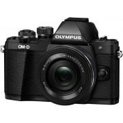 Aparat Foto Mirrorless Olympus E-M10 Mark II + Obiectiv EZ-M1442 IIR, 16.1 MP, Filmare Full HD (Negru)