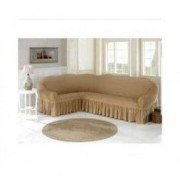Husa coltar sufragerie 300x 450 cm bumbac elasticizat bej