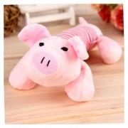 EH Perrito Mascota Mastica Squeaky Juguete Peluche Sonido Los Juguetes Del Perro-Cerdo Rosa