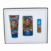 Ed Hardy Hearts & Daggers Eau De Toilette Spray + Shower Gel + Mini EDT Gift Set Men's Fragrance 464756