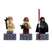 Lego Star Wars Mini Figure Magnet 3Pcs Set - Naboo Fighter Pilot Darth Maul