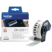 Brother Etiket Brother Dk 22211 29mm 15 Meter Witte Film