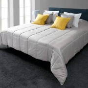 """Ultra-light Bed Coverlet or Pillow, Silver grey - Pillow, 45cm (17.7"""")"""