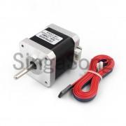 3 STKS 4-lead Nema17 Stappenmotor 42 motor 17HS8401 1.8A CE ROSH ISO CNC Laser en 3d-printer met DuPont lijn