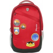 Hot Shot Polyester Waterproof School-College-Tution-Gym Casual 35.0 L Standrad Size Backpack(Red, Black)