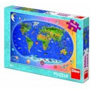 Puzzle XL - Harta Lumii 300 piese