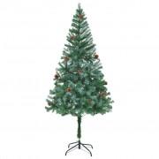 Sonata Изкуствено коледно дърво с шишарки, 180 см