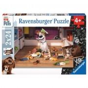 Puzzle Viata Secreta A Animalelor, 2X24 Piese Ravensburger