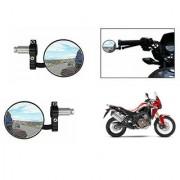 Kunjzone Bike Handle Grip Rear View Mirror BLACK Set Of 2- For Honda Africa Twin