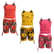 Eazy Trendz Exclusive Baby Girls Dress Collection of Top and Bottom Set Pack of 3