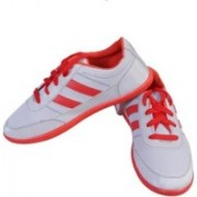 Shoe Striker Red Casual Canvas Shoes For Men(White)
