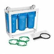 "Set 3 carcase BIG BLUE 10"", cadru metalic, manometre si cheie"