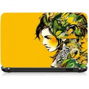 VI Collections Creativve Girl Printed Vinyl Laptop Decal 15.5