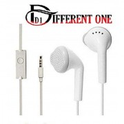 (PACK OF 1) DIFFERENT ONE High Quality Earphone for All Android iOS Smart Phones with 3.5mm Jack (White)