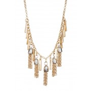 Melrose and Market Two-Tone Short Tassel Necklace GOLDRHODIUM