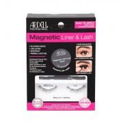Ardell Magnetic Liner & Lash 110 odstín Black sada magnetické řasy 110 1 pár + magnetická gelová linka 2 g Black + štěteček na linku 1 ks pro ženy