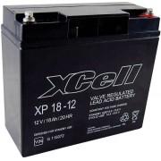 Acumulator plumb AGM 12 V, 18 Ah, (l x I x A) 181 x 167 x 77 mm, XCell XCEXP1812