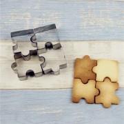 Koekjes Uitstekers Puzzel Vorm Puzzelstukjes 4 x