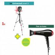 Laser za ukrštene linije Universal Level 3 + Fen za kosu