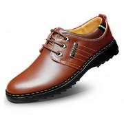 Zapatos Hombre Del Ecocuero Y Ocio - Marrón