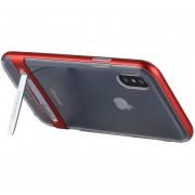 Mercury Goospery 5,5 Pulgadas Para IPhone X Desmontable Galvanotecnia Bumper Frame + TPU Protector Antichoque Volver Funda Con Soporte (rojo)