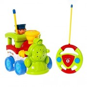 GordVE SJB70 Cartoon Cars RC Train Action Figure Car Radio Control Cars Electric Trains Toy for Toddlers and Babies