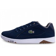 Lacoste Homme Deviation Bleue Et Marron Baskets 42